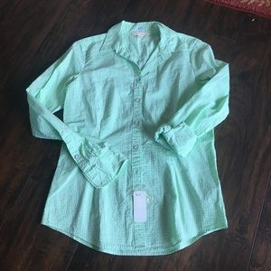 Brooks brothers green button up